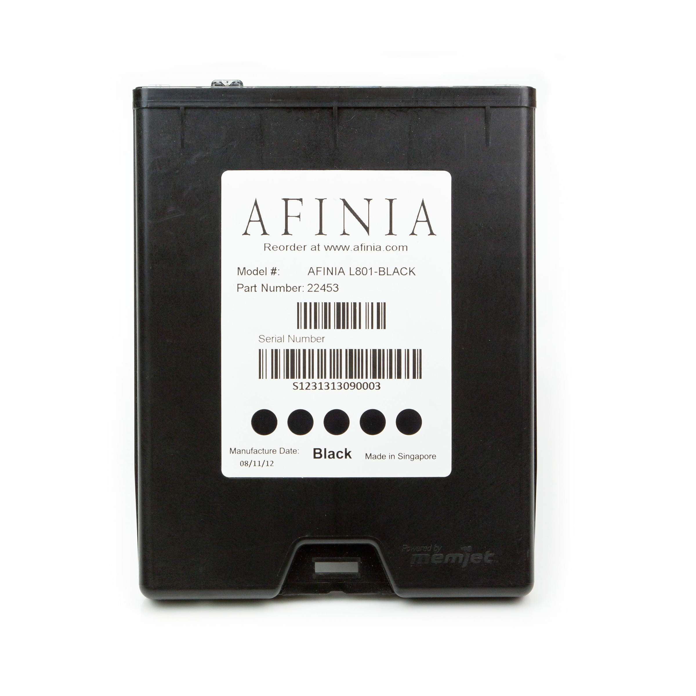 Afinia L801 Color Printer - BLACK Ink Cartridge