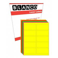 Sheeted Label: 2 in. x 4 in. FLUORESCENT Laser - 100 Sheets
