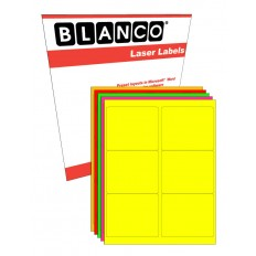 Sheeted Label: 3-1/3 in. x 4 in. FLUORESCENT Laser - 100 Sheets